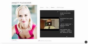 Screenshot der Portfolio Seite von Annett Fleischer