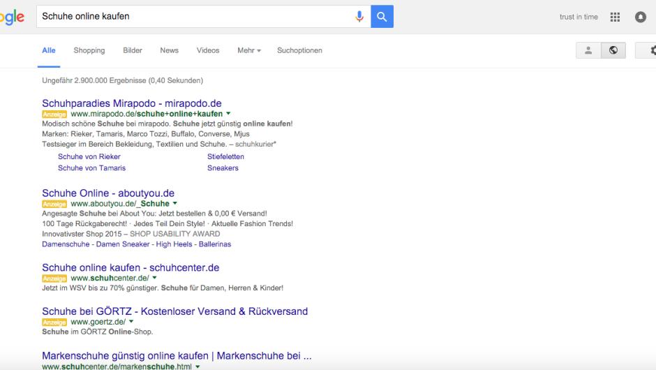Google сократил количество рекламы (AdWords)